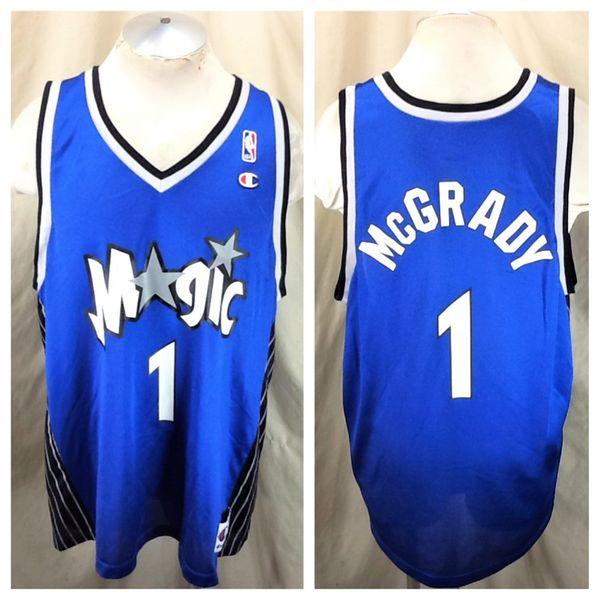 Vintage Champion Orlando Magic Tracy McGrady #1 (XL/48) Retro NBA Basketball Graphic Jersey