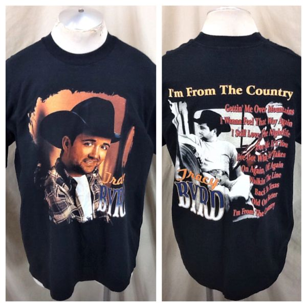 "Vintage 1998 Tracy Byrd ""I'm From The Country"" (XL) 90's Country Graphic T-Shirt Black"