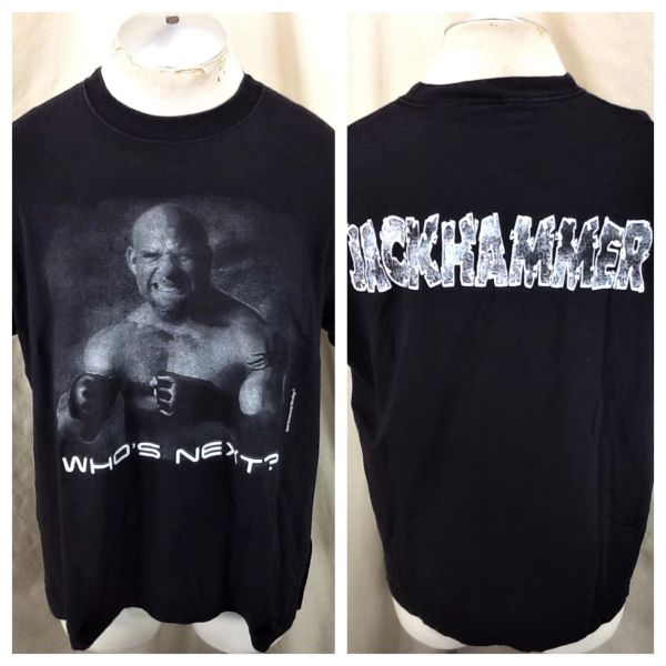 "Vintage 90's WCW Bill Goldberg ""Who's Next"" (L/XL) Retro ""Jackhammer"" Wrestling Graphic T-Shirt"