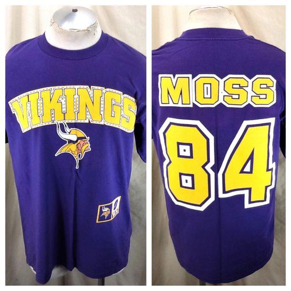 Vintage 90's Minnesota Vikings Randy Moss #84 (Large) Retro NFL Football Graphic Player T-Shirt