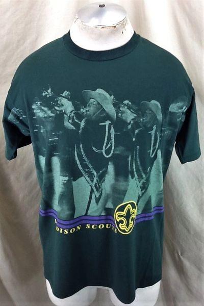 Vintage 90's Madison Scouts & Bugle Corps (Large) Retro Boy Scouts Graphic T-Shirt