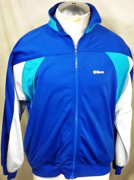 Vintage 90's Wilson Sport Athletic Wear (Large) Retro Full Zip Up Track Jacket
