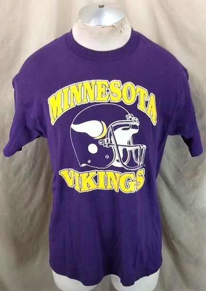Vintage 90's Minnesota Vikings Football (Large/XL) Retro NFL Classic Logo Graphic T-Shirt