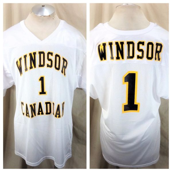 Vintage Wilson Canadian Windsor (Large) Blended Canadian Whiskey Graphic Football Jersey