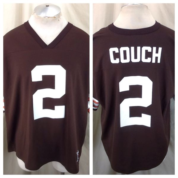 Vintage 90's Logo Athletic Cleveland Browns Tim Couch #2 (XL) Retro NFL Football Graphic Brown Jersey