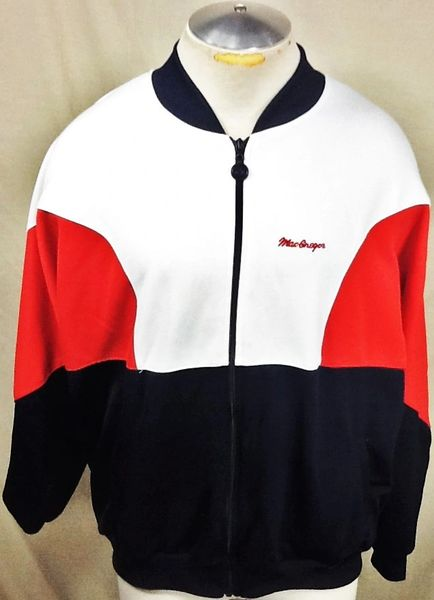 Vintage 90's MacGregor Athletic Wear (Large) Retro Full Zip Up Long Sleeve Track Jacket