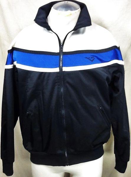 Vintage 90's Pony Sport Athletic Workout Wear (Large) Retro Full Zip Up Long Sleeve Track Jacket