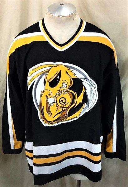 "Vintage CCM Ski-Doo Team ""Bee Logo"" (Large) Power Sports Pullover Knit Hockey Jersey"