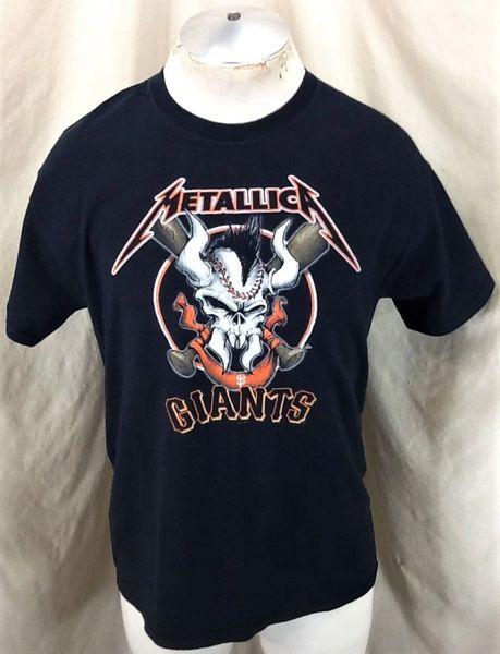 "San Francisco Giants ""Metallica"" Collaboration (Med) Retro Rock Concert Tour Band T-Shirt"