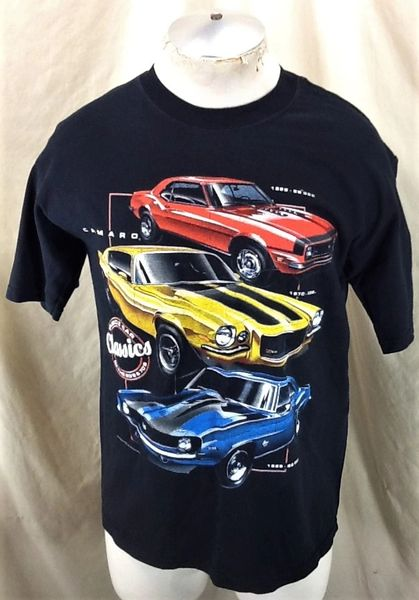 Vintage 2000's Chevy Camaro Muscle Car Classics (Med) Retro Gear Head Graphic T-Shirt
