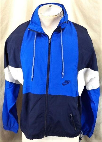 Vintage 90's Nike Gray Tag Active Wear (Small) Retro Full Zip Up Windbreaker Jacket