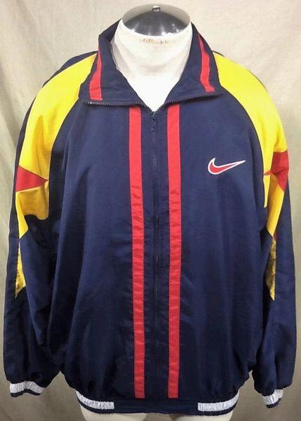 Vintage 90's Nike Active Wear (XL) Retro Hip-Hop Streetwear Windbreaker Jacket