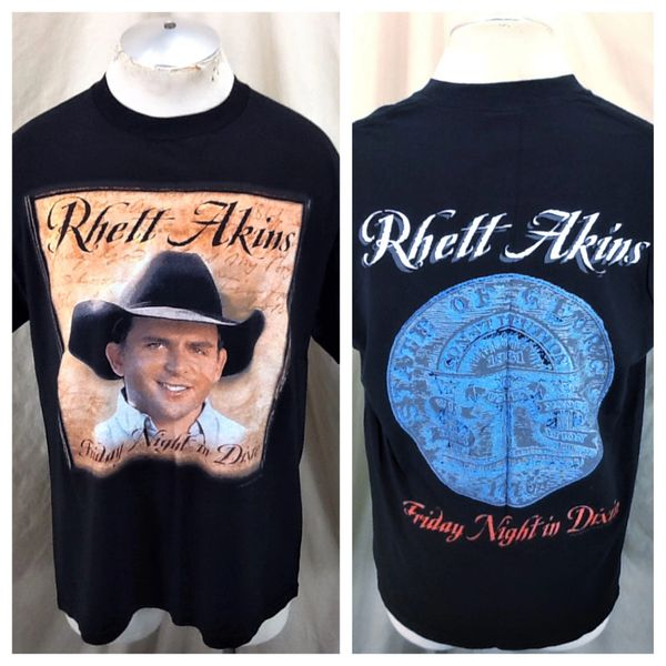 "Vintage 2002 Rhett Atkins ""Friday Night In Dixie"" (Large) Retro Country Music Graphic T-Shirt"