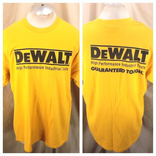 Vintage DeWalt High Performance Industrial Tools (XL/2XL) Retro Graphic Yellow T-Shirt