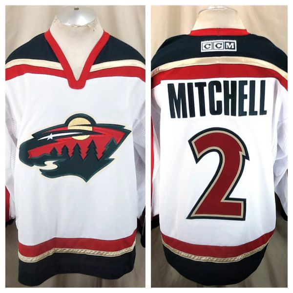 CCM Minnesota Wild Willie Mitchell #2 (XL) Retro NHL Hockey Road White Jersey