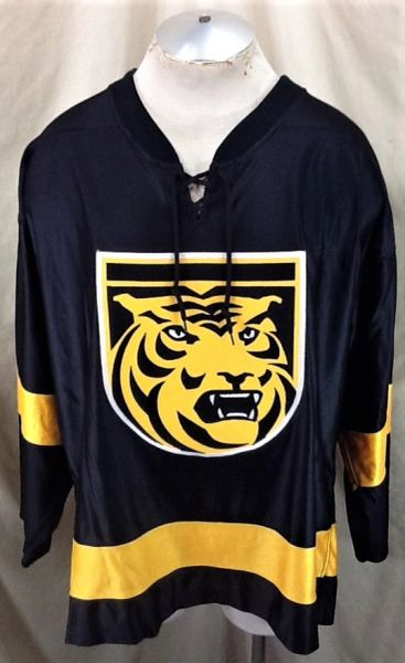 Vintage Gemini Colorado College Tigers Hockey Team (48/XL) Retro WCHA Black Jersey
