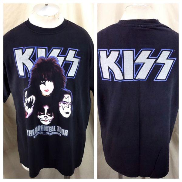 """Vintage 2000 KISS """"The Farewell Tour"""" (XL) Retro Band Concert Tour Graphic T-Shirt Black"""