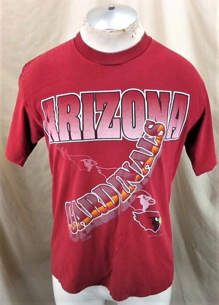 Vintage 1994 Arizona Cardinals Football Club (Med) Retro NFL Graphic T-Shirt Red