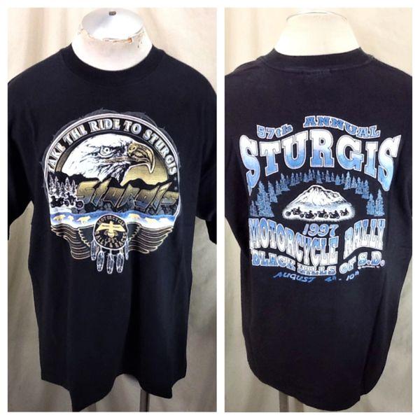 "Vintage 1997 Sturgis ""Take The Ride To Sturgis"" (XL) Retro Motorcycle Rally & Races T-Shirt"