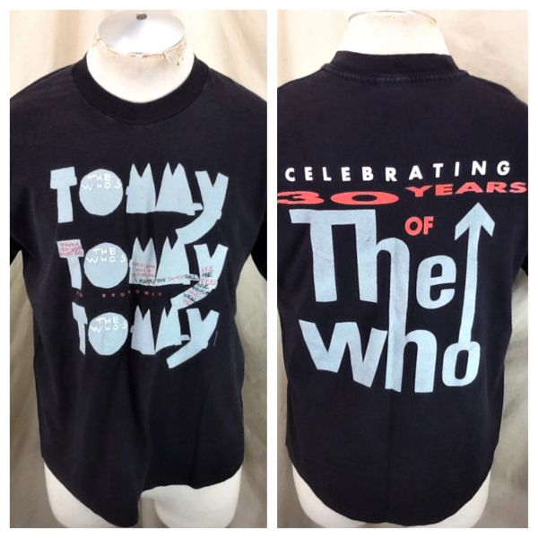 """Vintage 1993 The Who """"Tommy On Broadway"""" (Large) Celebrating 30 Years Retro Band T-Shirt"""