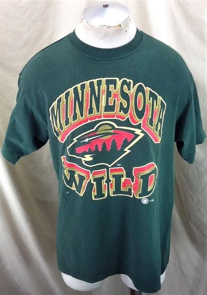 Vintage Minnesota Wild NHL Hockey Club (Large) Retro Ice Hockey Graphic T-Shirt Green
