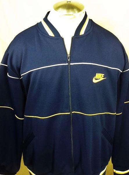 Vintage 90's Nike Active Wear (XL) Retro Hip-Hop Streetwear Heavy Track Jacket
