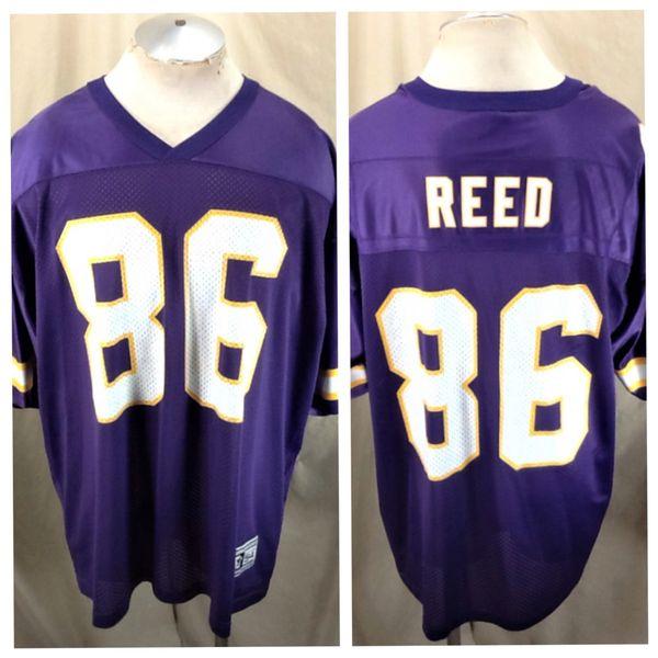 Vintage 90's Starter Minnesota Vikings Jake Reed #86 (54/2XL) Retro NFL Graphic Football Jersey Purple