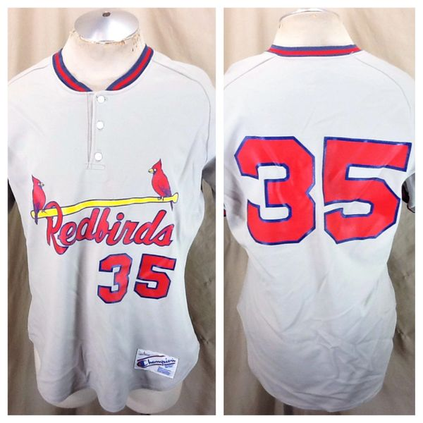 Vintage 80's Champion St. Louis Cardinals #35 (Large) Retro MLB Baseball Redbirds Jersey