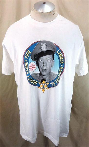 "Vintage 1993 Deputy Barney Fife ""Don't Panic"" (XL Long) Retro Andy Griffith Show T-Shirt"