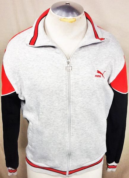 Vintage 90's Puma Active Wear (Med) Retro Streetwear Hip-Hop Zip Up Track Jacket