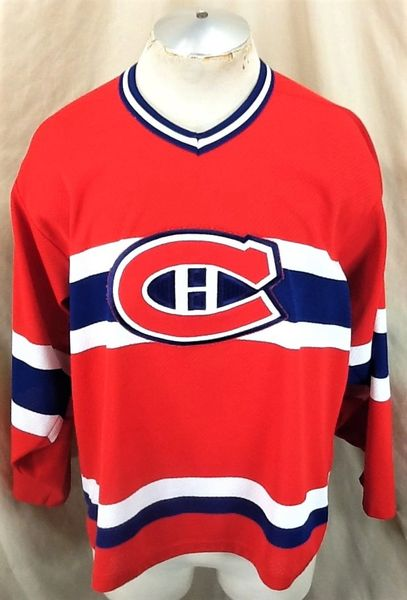 Vintage 90's CCM Montreal Canadiens (Med) Classic NHL Hockey Retro Red Jersey