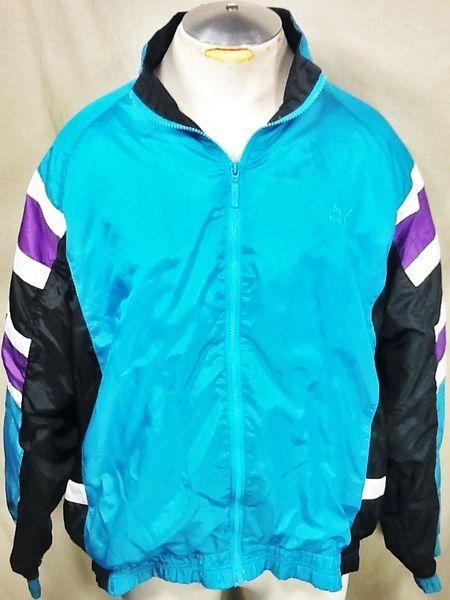 Vintage 90's Puma Active Wear (XL) Retro Hip-Hop Streetwear Thermal Lined Windbreaker