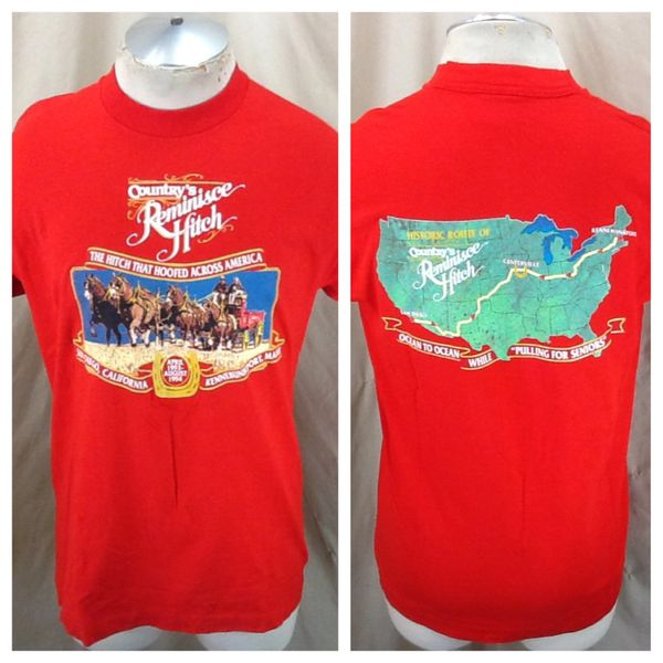Vintage 1993 Country's Reminisce Hitch (Large) Ocean To Ocean Retro Graphic T-Shirt