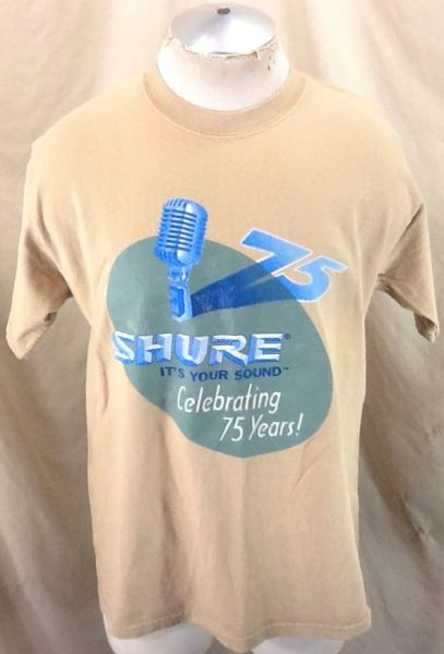 "Vintage 2000 Shure ""It's Your Sound"" (Large) Celebrating 75 Years Retro Graphic T-Shirt"