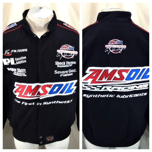 """Jeff Hamilton Amsoil """"The First In Synthetics"""" (Small) Gear Heads Snap Up Racing Jacket"""