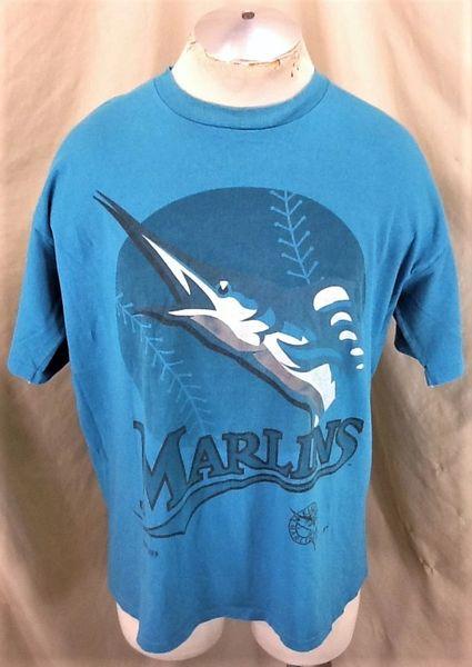 Vintage 1993 Jostens Florida Marlins (XL) Retro MLB Baseball Club Graphic T-Shirt