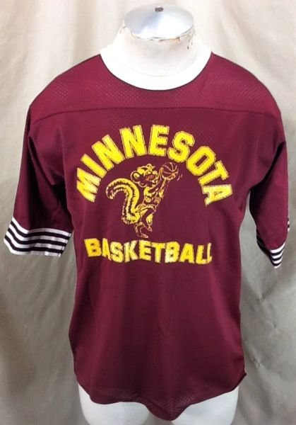Vintage 1980's Artex Minnesota Gophers Basketball (Med) Retro NCAA Warm Up Shooting Jersey