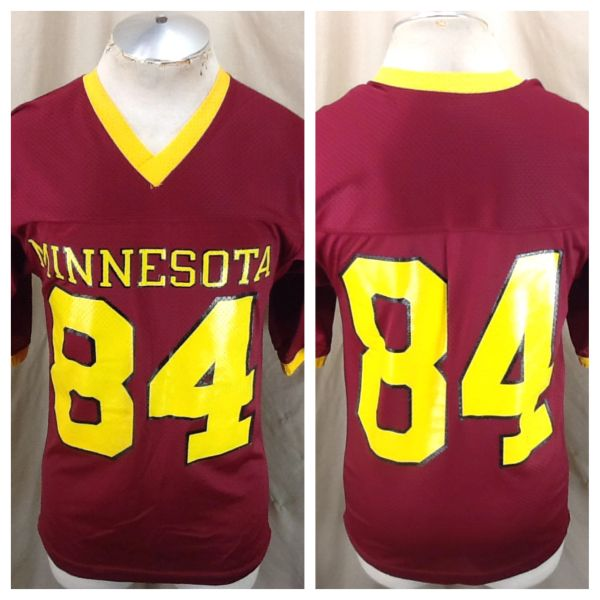 Vintage 1980's Minnesota Gophers #84 (Small/Med) NCAA Graphic Maroon Football Jersey