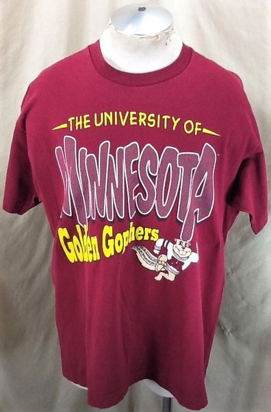 Vintage 90's University of Minnesota (XL) Retro Golden Gophers NCAA Graphic T-Shirt