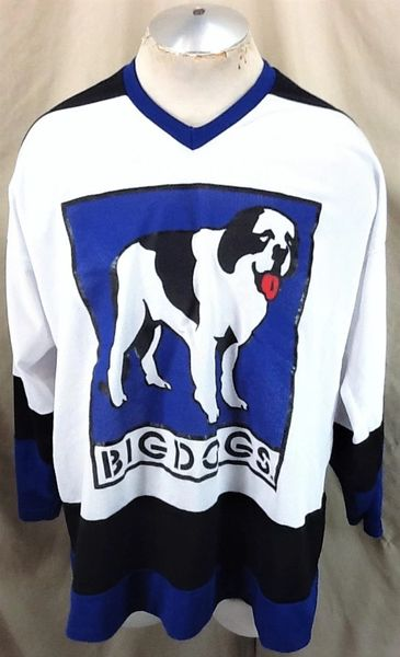 Vintage 90's Big Dogs Athletic Sportswear (L/XL) Retro Pullover Graphic Hockey Jersey
