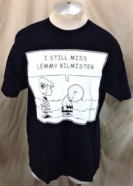 "Retro Motorhead ""I Still Miss Lemmy Kilmister"" (XL) Charlie Brown Memorial Graphic T-Shirt"