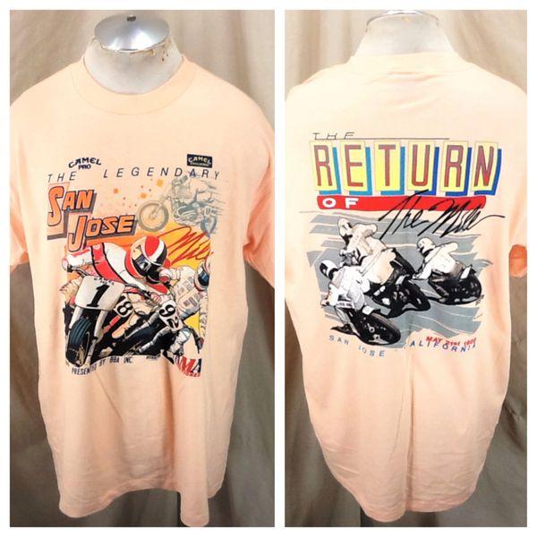 "Vintage 1989 Camel Challenge ""The San Jose Mile"" (XL/2XL) Retro AMA Racing Graphic T-Shirt"