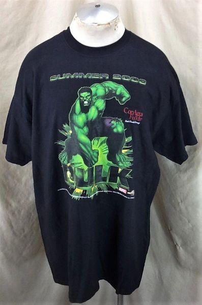 Vintage 2003 The Incredible Hulk (2XL Long Length) Retro Universal Studios Graphic T-Shirt
