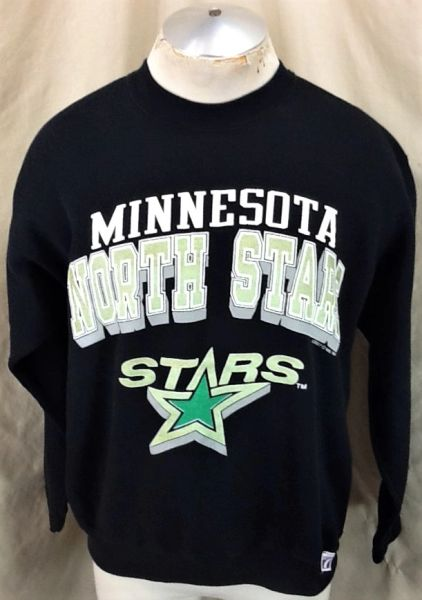 Vintage 1991 Minnesota North Stars (Large) Retro NHL Hockey Crew Neck Sweatshirt