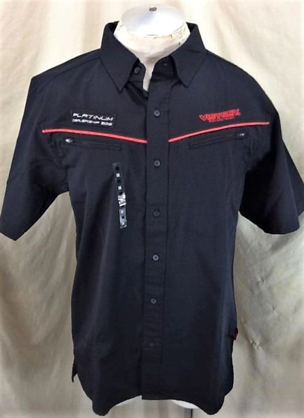 """New! Victory Motorcycles """"Platinum Dealership 2016"""" (Med) Button Up Shop Work Shirt"""
