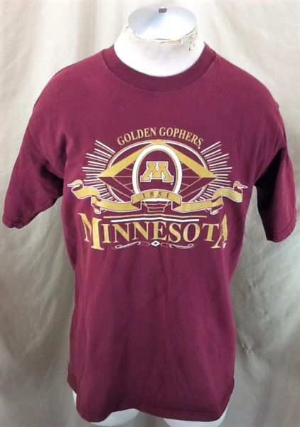 Vintage 90's Minnesota Golden Gophers (Med) NCAA Apparel Graphic T-Shirt Maroon