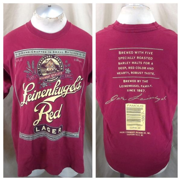 Vintage 90's Leinenkugel's Red Lager (XL) Retro Leine's Brewing Company Graphic T-Shirt