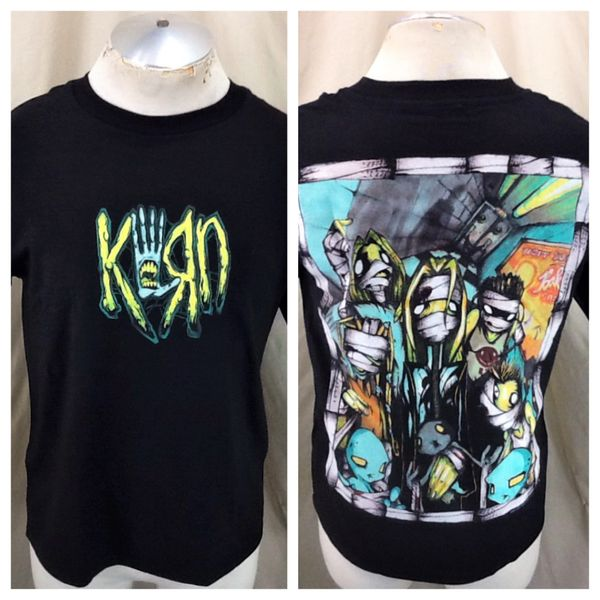 "Vintage 2001 Giant Korn ""Untouchables"" (Sm/Med) Retro Nu Metal Graphic Band T-Shirt"
