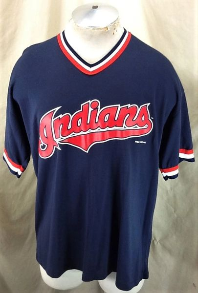 Vintage 1995 Cleveland Indians Baseball Club (XL) Retro MLB Classic Logo Graphic Jersey Shirt