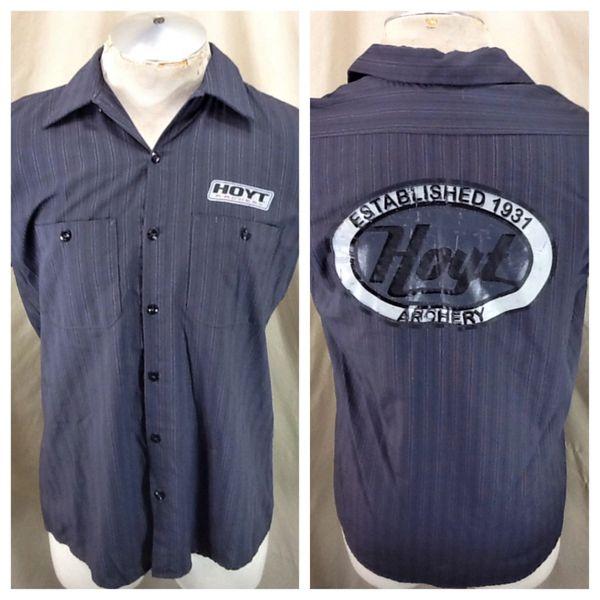 "Red Kap Hoyt Archery ""Established 1931"" (Med) Retro Outdoorsman Button Up Shop Shirt"